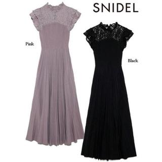 snidel - 【snidel】ガーデンレースニットワンピース
