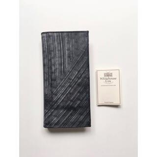 ホワイトハウスコックス(WHITEHOUSE COX)の新品 ホワイトハウスコックス Whitehouse Cox 長財布 ブラック(長財布)