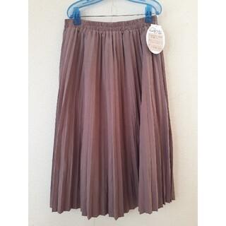 4L 大きいサイズ くすみピンク プリーツスカート