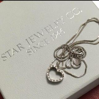 STAR JEWELRY - スタージュエリー starjewelry ダイヤモンド ネックレス k18 wg