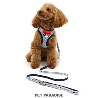 ディズニー(Disney)のPet Paradise ミッキーマウスリード付きハーネス 3S チワワ(リード/首輪)