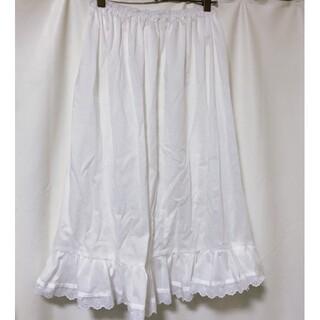 着丈70cm GHオリジナル☆シンプル綿ローンペチスカート ペチコート 裾レース