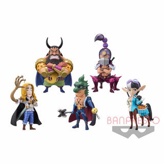 BANPRESTO - ワンピース ワールドコレクタブルフィギュア-百獣海賊団2- 5種コンプセット