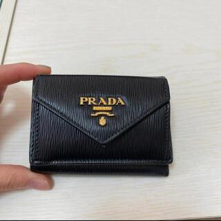 PRADA - PRADA ミニウォレット ブラック 美品