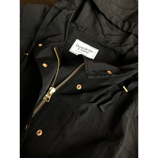 DEUXIEME CLASSE(ドゥーズィエムクラス)のDEUXIEME CLASSE C/N フードブルゾン ブラック レディースのジャケット/アウター(ブルゾン)の商品写真