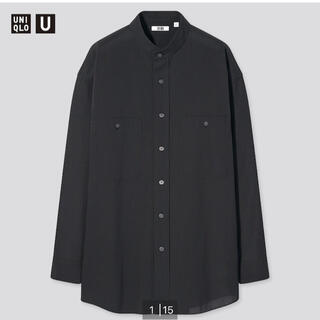 UNIQLO - 新品タグ★ワイドフィットスタンドカラーストライプシャツ