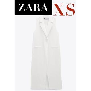 ZARA - 【新品/未着用】ZARA クロスオーバーフロントロングベスト ロングベスト ジレ
