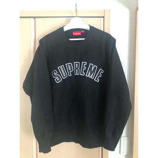 Supreme - 即日発送 supreme arc logo crewneck black L