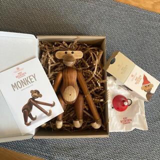 カイボイスン(Kay Bojesen)のカイボイスン 正規品 モンキーS チーク クリスマスハットセット(置物)
