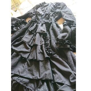 ヴィクトリアンメイデン(Victorian maiden)のゴシック  ロリータ   黒  姫袖 ワンピース(ロングワンピース/マキシワンピース)