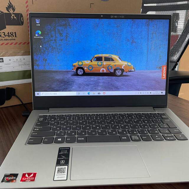 Lenovo(レノボ)のLenovo IdeaPad S340 プラチナグレー スマホ/家電/カメラのPC/タブレット(ノートPC)の商品写真
