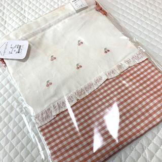 futafuta - mamaraku さくらんぼ柄 巾着袋Lサイズ
