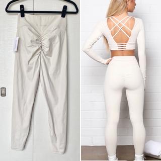 lululemon - 新品 fashion nova アクティブウエア レギンス 白 ホワイト