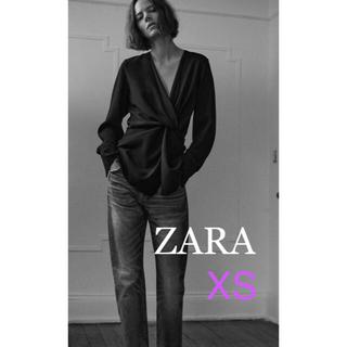 ZARA - ZARA ザラ ノットブラウス プルオーバー XS