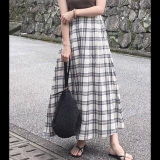 GU - GU チェックロングスカート