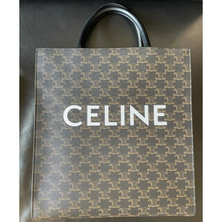 CEFINE - ミディアム バーティカル カバ /CELINEプリント入りトリオンフ キャンバス