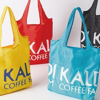 カルディ(KALDI)のカルディコーヒー オリジナルエコバッグ ブルー(ノベルティグッズ)