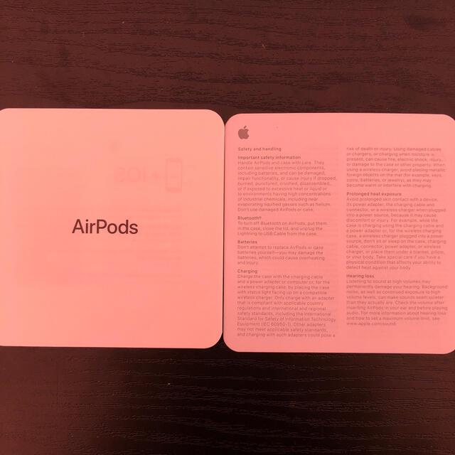 Apple(アップル)のAirPods 第2世代 右耳イヤホン スマホ/家電/カメラのオーディオ機器(ヘッドフォン/イヤフォン)の商品写真
