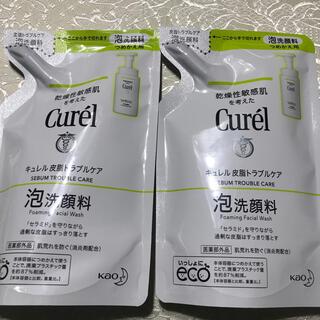 Curel - 【2個セット】キュレル 皮脂トラブルケア泡洗顔(乾燥性敏感肌)詰め替え