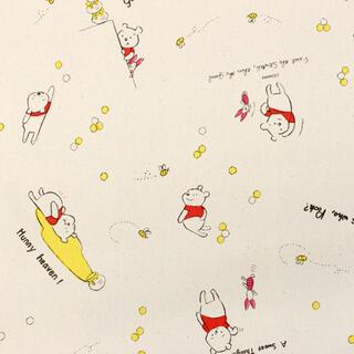 くまのプーさん - ディズニー くまのプーさん 11号帆布生地 巾110cm×1m