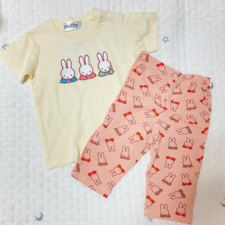★新品未使用★ ミッフィー 刺繍Tシャツ レギンス セット 90サイズ(Tシャツ/カットソー)