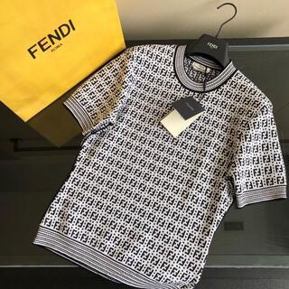 【FENDI】ホワイトビスコース セーター プルオーバー(ニット/セーター)
