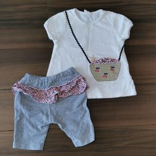 アカチャンホンポ(アカチャンホンポ)の【ラパン様専用】90 女の子 Tシャツ ズボン セット(Tシャツ/カットソー)