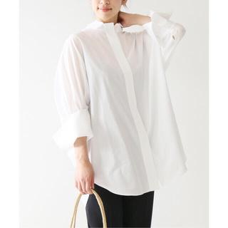 IENA - VERMEIL par iena 高密度ブロードドルマンスリーブシャツ ブラウス