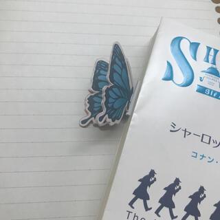 青い蝶の栞(しおり/ステッカー)