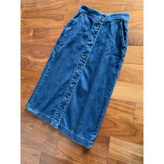 ユニクロ(UNIQLO)のデニム ボタンスカート(ロングスカート)