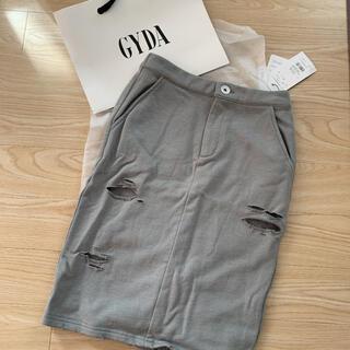GYDA - スウェットダメージスカート