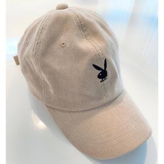 プレイボーイ(PLAYBOY)のプレイボーイ ベージュ キャップ 帽子(キャップ)
