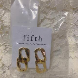 フィフス(fifth)の新品未開封 fifth ダブルリングピアス(ピアス)