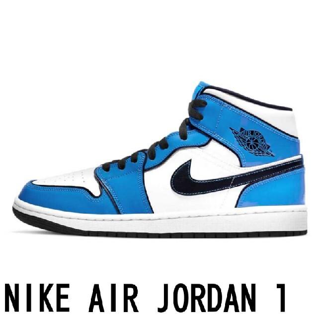 "NIKE(ナイキ)の希少★30cm★AIR JORDAN 1 MID ""SIGNAL BLUE"" メンズの靴/シューズ(スニーカー)の商品写真"
