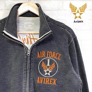 AVIREX - AVIREX アヴィレックス A-75 ジップアップスウェット チェーン刺繍
