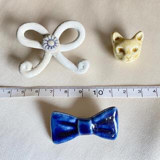 ミナペルホネン(mina perhonen)の陶器製ブローチ 3個セット 小菅幸子さんほか(ブローチ/コサージュ)