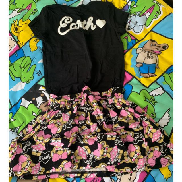 EARTHMAGIC(アースマジック)のアースマジック 総柄ワンピース140cm キッズ/ベビー/マタニティのキッズ服女の子用(90cm~)(ワンピース)の商品写真