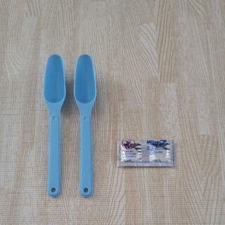 ワコウドウ(和光堂)の粉ミルクスプーン50ml × 2本&ミルトンCP(スプーン/フォーク)