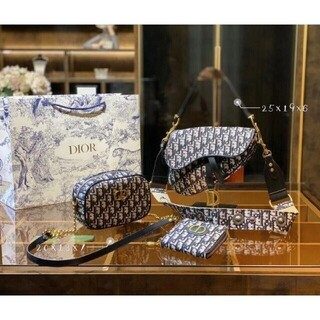 Christian Dior - ☆ディオールDior ショルダーバッグ 3点セットChristian Dior