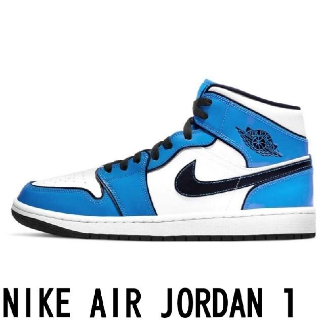 "NIKE(ナイキ)の28.5cm★JORDAN 1 MID ""SIGNAL BLUE シグナルブルー メンズの靴/シューズ(スニーカー)の商品写真"