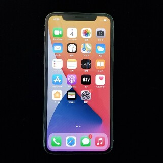 iPhone - iPhoneX 64GB シルバー au SIMフリー ネットワーク利用制限×
