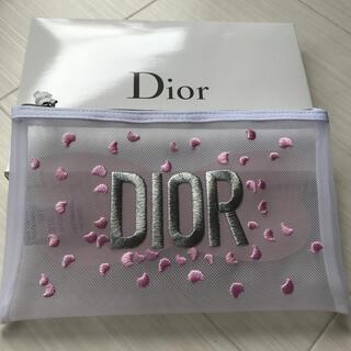 Dior - ディオール Dinr ポーチ メッシュ 花びら ハート ノベルティ 非売品 新品