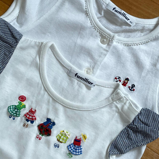 familiar - ファミリア カーディガン Tシャツ 80