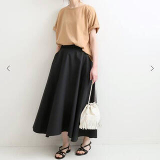 IENA - IENA フレアスカート ブラック