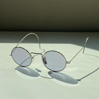 アヤメ(Ayame)の20s-30s ヴィンテージ  丸メガネ  彫金(サングラス/メガネ)