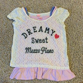 mezzo piano junior - 美品 メゾピアノジュニア アンサンブルカットソー 140S