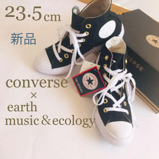 CONVERSE - タイムセール‼︎新品converseハイカットスニーカーblack 23.5cm