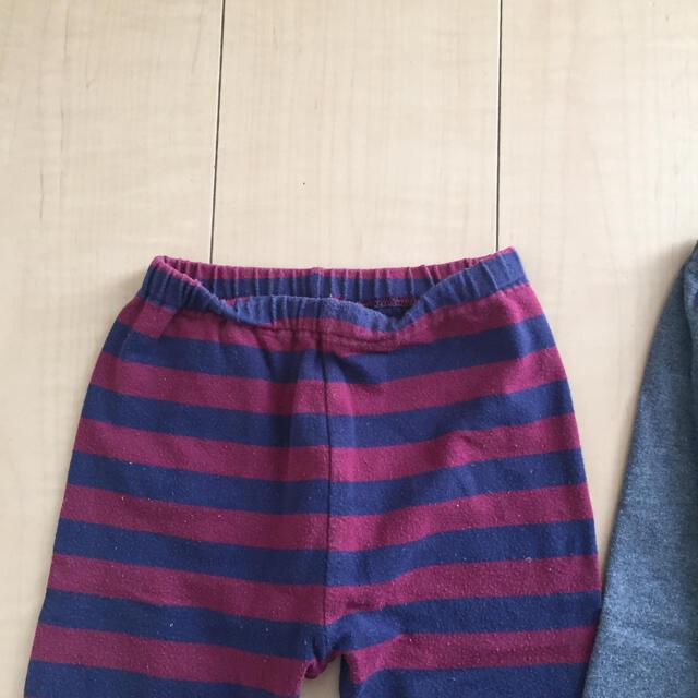 UNIQLO(ユニクロ)のUNIQLO レギンスパンツ 2枚セット サイズ100 キッズ/ベビー/マタニティのキッズ服男の子用(90cm~)(パンツ/スパッツ)の商品写真
