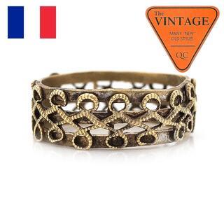 フランス ヴィンテージ ロープエタニティリング 12号 ゴールド色 アンティーク(リング(指輪))