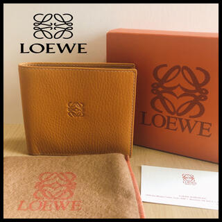 LOEWE - 【LOEWE】ロエベ レザー 二つ折り財布 お札入れ  バイカラー